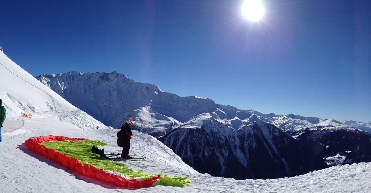 Ski parapente