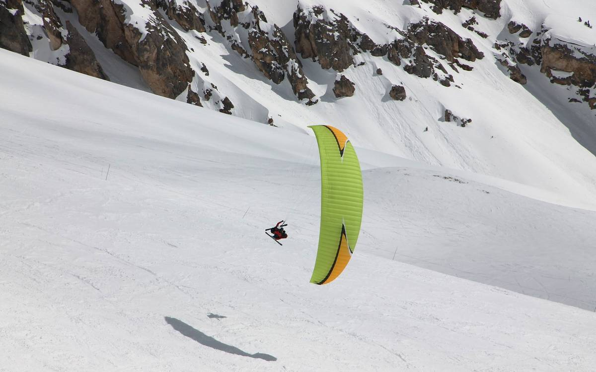 parapente en ski