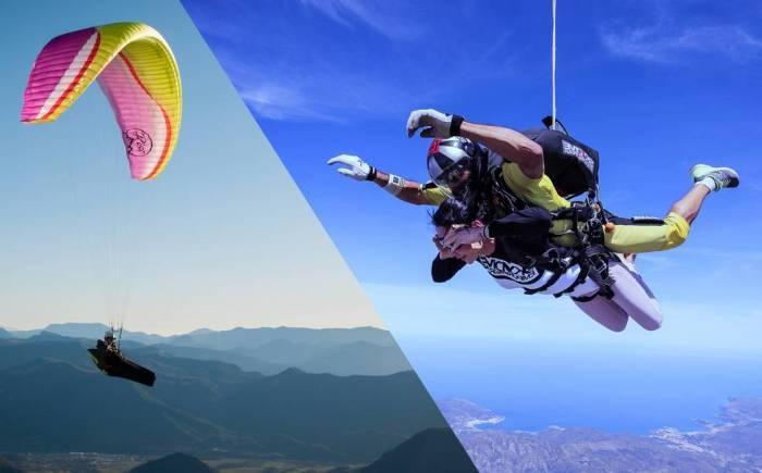 parapente vs parachute