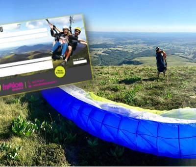 Bon cadeau saut en parapente Puy de Dôme - Freedom Parapente