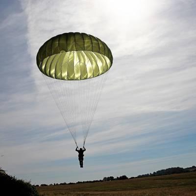 parachute hemispherique