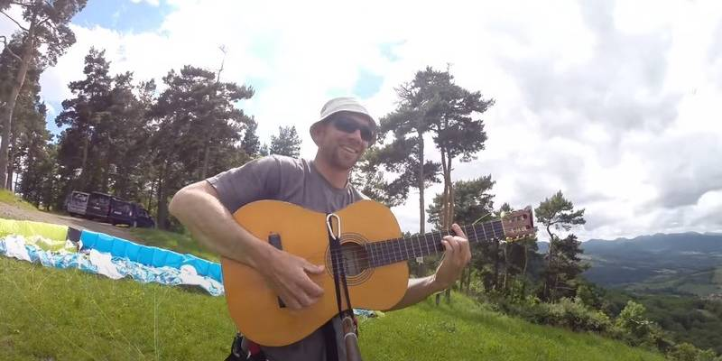 guitare en parapente