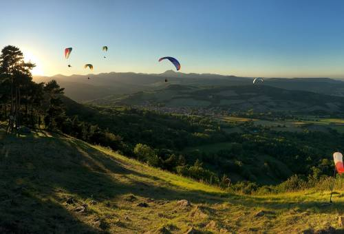 Stage parapente progression Auvergne